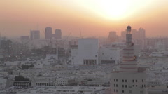 Kassem Darwish Fakhroo Islamic Centre at Sunset, Doha, Qatar, Middle East Stock Footage