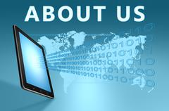 About us Stock Illustration