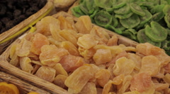 Souq Waqif, Colourful Dried Fruit, Doha, Qatar, Middle East Stock Footage