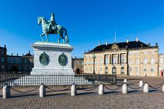Amalienborg castle Stock Photos