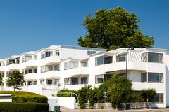 art deco apartment building - stock photo