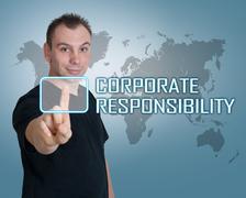 corporate responsibility - stock illustration