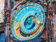 Astronomical clock in Prague, Czech Republic - stock photo