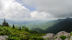 Time Lapse Devils Courthouse Blue Ridge Parkway Stock Footage