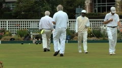 Lawn bowling players Stock Footage