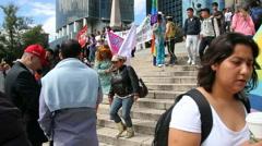 Gay pride parade in the Angel de la Independencia Stock Footage
