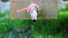 Wasting water from the outdoor tap episode 2 Stock Footage