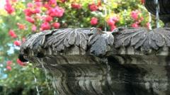 Fountain closeup - stock footage