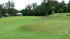 South Eeast Asia Brunei Bandar Seri Begawan lawn of the sultan's golf course Stock Footage