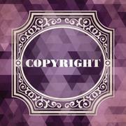 Copyright. Vintage Design Concept. Stock Illustration