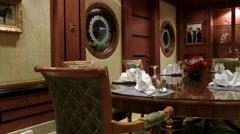 South Eeast Asia Brunei Bandar Seri Begawan dining room in polo club Stock Footage