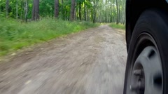Driving At Country Road. Stock Footage