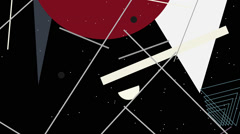 Kandinsky Shapes Animated 07 - Alpha Included Stock Footage