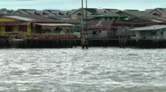 South Eeast Asia sultanate Brunei Bandar Seri Begawan water village Stock Footage