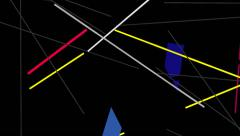 Kandinsky Shapes Animated 08 - Alpha Included Stock Footage