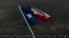 Texas Flag Animation Stock Footage