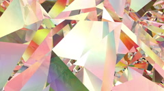 Refracting 3d Crystal / Colour Version Stock Footage