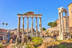 Roman ruins in Rome, Forum Stock Photos