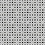 Stock Illustration of tic tac toe (noughts and crosses, xs and os) seamless pattern