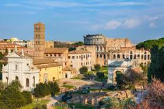 Stock Photo of Forum and Coliseum in Rome