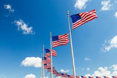 US Flags - stock photo