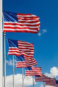 US Flags Stock Photos