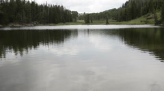 Beautiful Cove Lake in remote Utah mountains-HD P-2583 Stock Footage