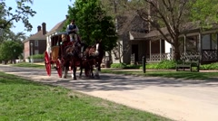 Old-World Horse Drawn Carriage Stock Footage