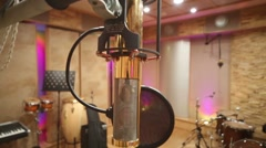 Modern microphone in Recording Studio with special equipment Stock Footage