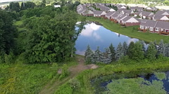 Aerial view of the subdivision Stock Footage