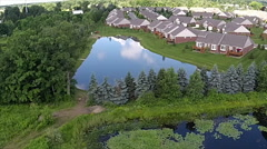 Aerial view of the subdivision - stock footage