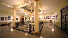 Hall with balcony of Metropol hotel was built in years 1899-1905 Stock Footage