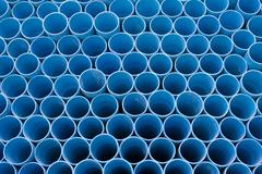 Blue pvc pipes Stock Photos