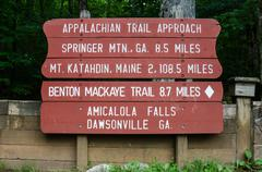 Appalachian trail approach sign Stock Photos