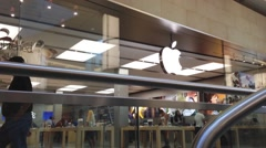 Apple store inside mall Stock Footage