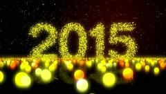 Happy New Year 2015 Zoom 4K Resolution Ultra HD Stock Footage