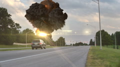 Nuke nuclear explosion explosive bomb bombing 222 Stock Footage