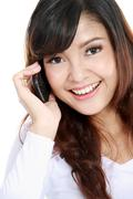 attractive woman on the phone - stock photo