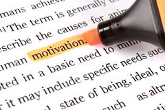 Stock Photo of highlighter and word motivation