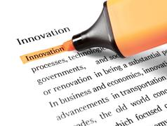Stock Photo of the word 'innovation' highlighted