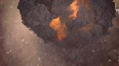 Top of valcano hell and damnation Stock Footage