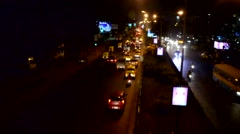 Time lapse of busy Indian traffic at night. Stock Footage