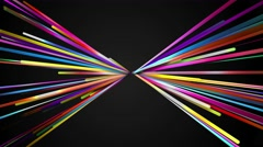 Rainbow Line butterfly shape Loop Animation Dark Background 4K Resolution - stock footage