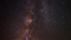 4K Milky Way Galaxy 14 Timelapse Trona Pinnacles 2014 Stock Footage