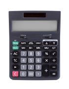 Black calculator Stock Photos
