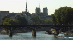 Ile de la Cité, Paris - stock footage