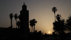 Main Mosque in Marrakech - Sunset #3 - stock footage