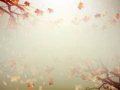 Stock Illustration of Autumnal Background with maple leaves. EPS 10