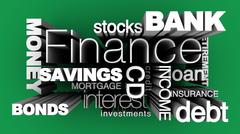 Financial Words 3D Stock Illustration