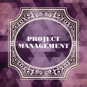 Project Management Concept. Vintage design. Stock Illustration